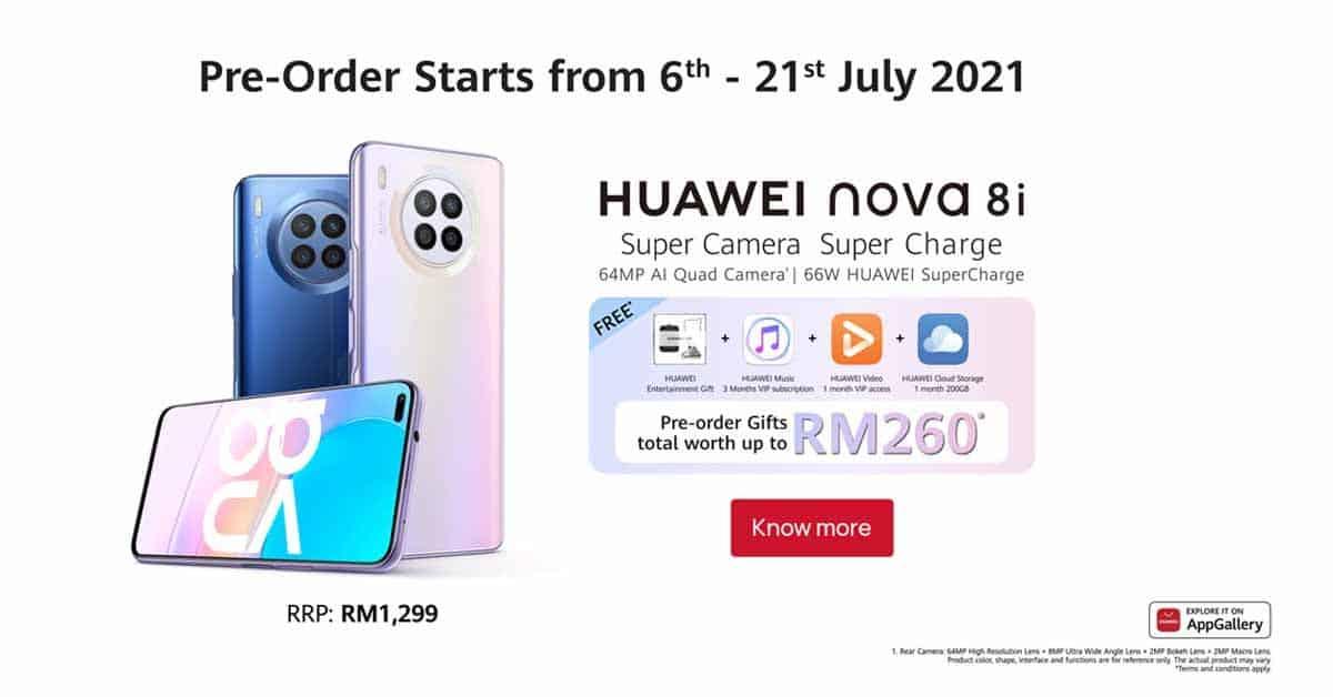 Huawei nova 8i Preorders