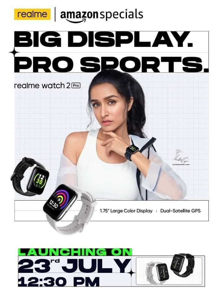 Realme Watch 2 Pro Shraddha Kapoor