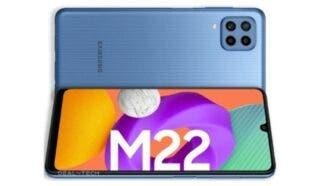 Samsung Galaxy M22 Render Leaked