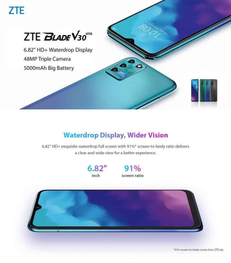 ZTE Blade V30 and ZTE Blade V30 Vita