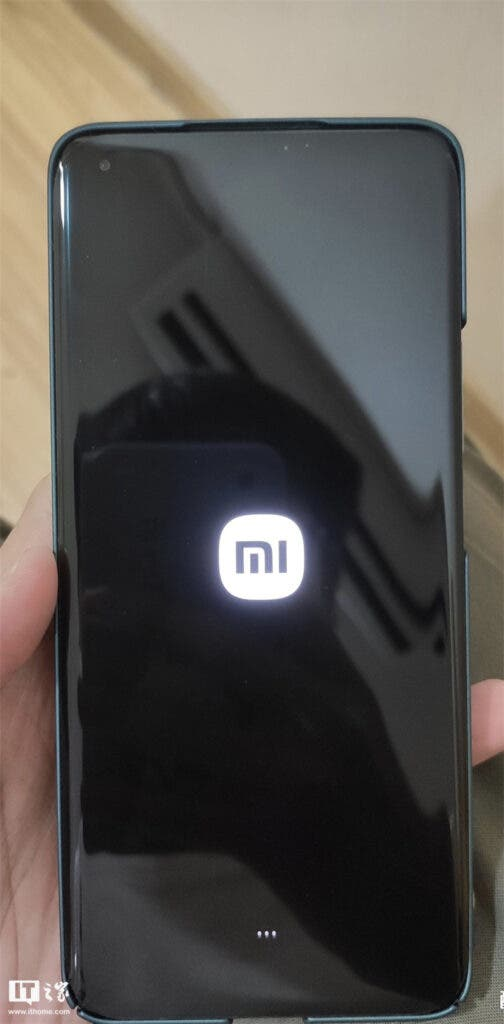 MIUI system startup page for Xiaomi smartphones