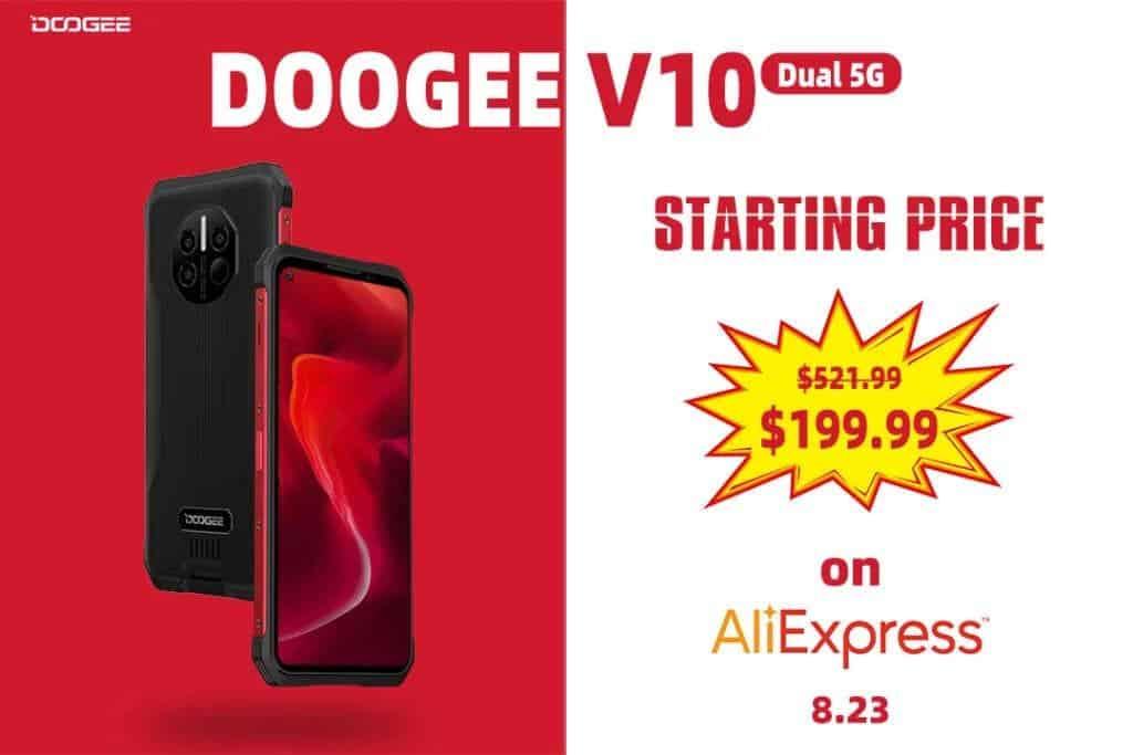 Doogee V10 5G 60% Discount