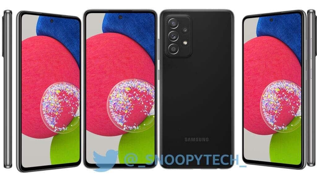 Galaxy A52s Black Leaked Render