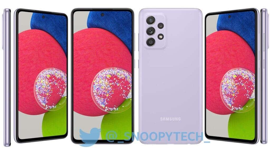Galaxy A52s Purple Leaked Render
