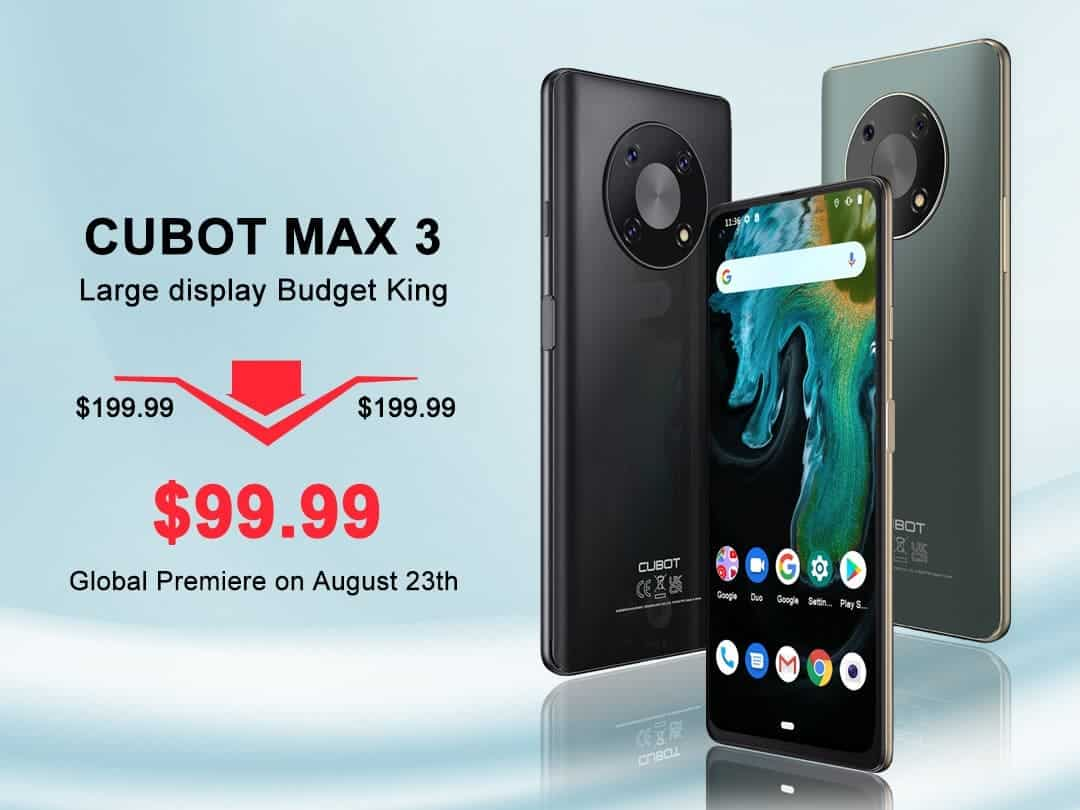 Cubot MAX3 officially launched