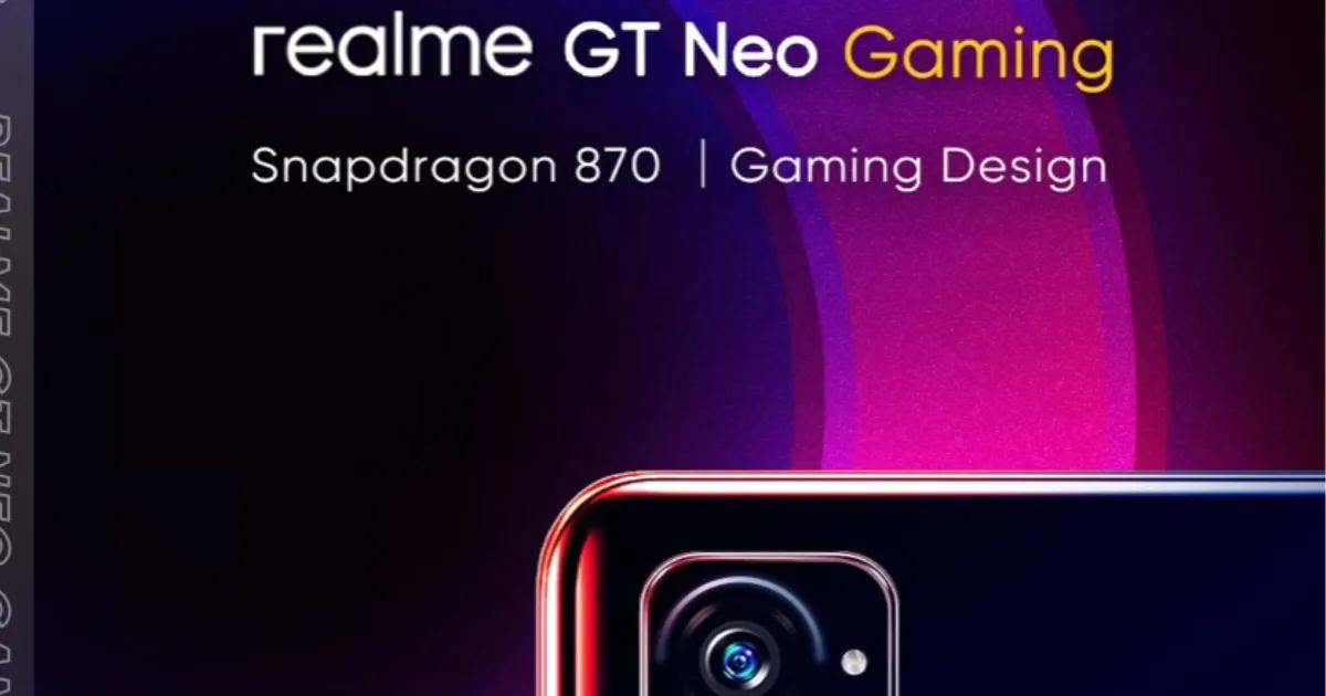 Realme GT Neo Gaming Poster Leaked