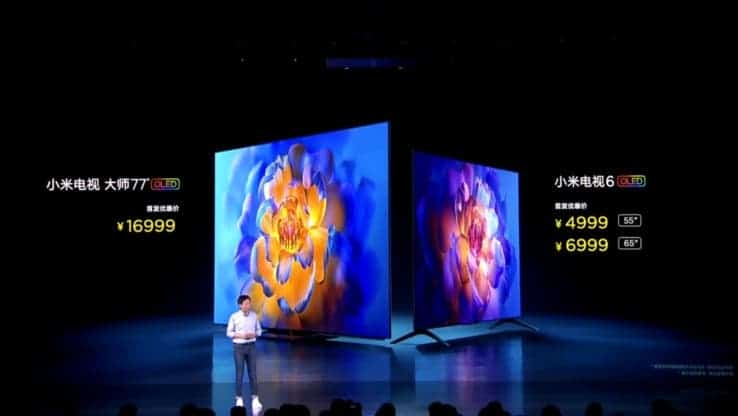 Xiaomi Mi TV 6 OLED Price In China