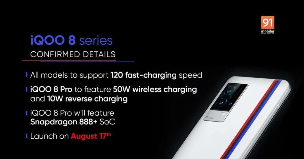 iQOO 8 series Confirmed Details
