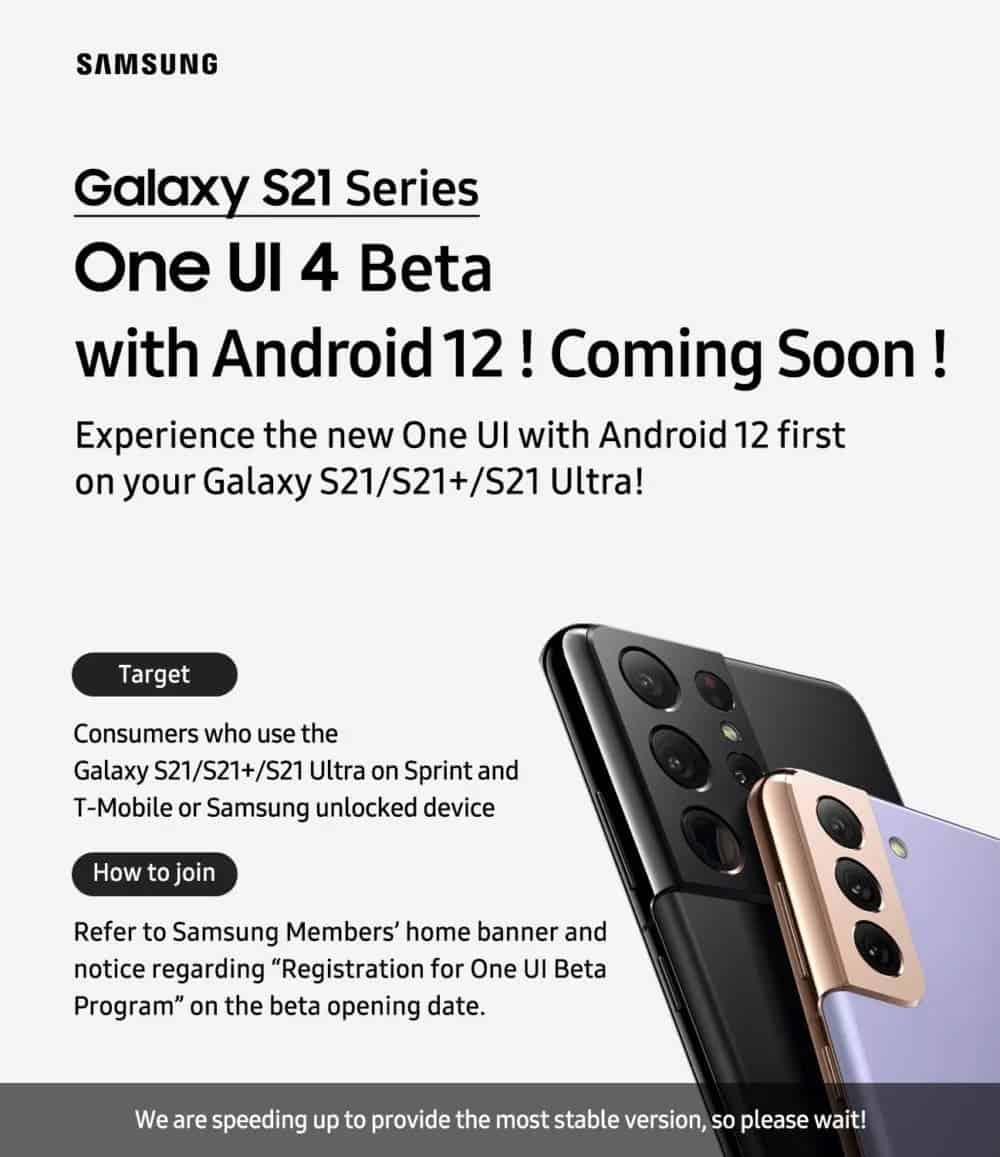 One UI 4.0 Android 12