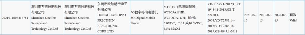 OnePlus 9 RT 3C Listing