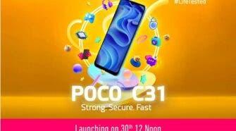 POCO C31 Launch in India Sept. 30