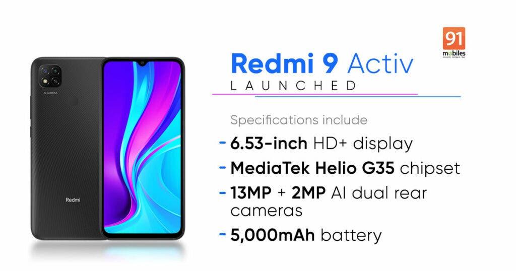 Redmi 9 Activ Amazon India Listing