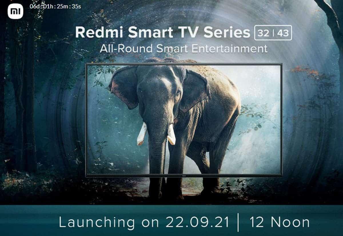 Redmi Smart TV Series India Launch