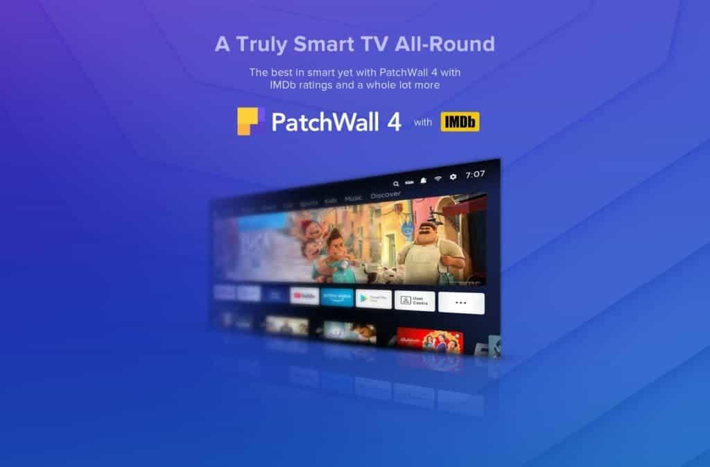 Redmi Smart TV Series India PatcWall 4