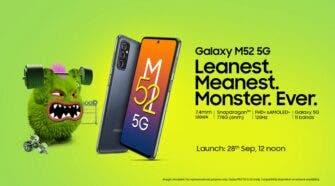 Samsung Galaxy M52 5G India launch date
