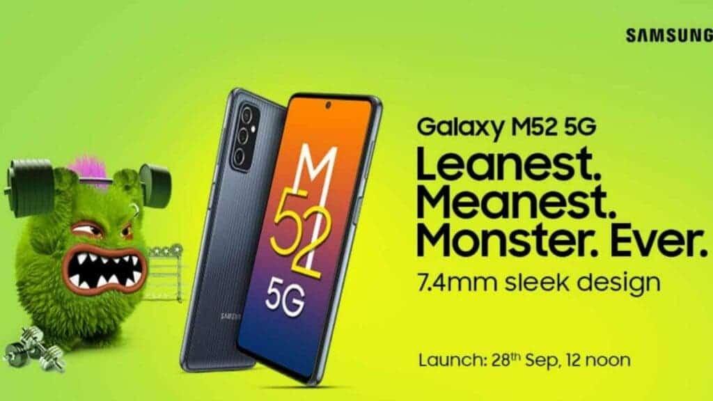 Samsung Galaxy M52 5G new Amazon India
