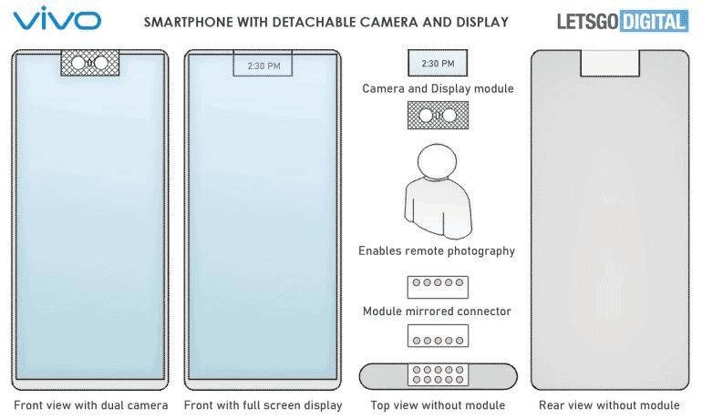 vivo smartphone with a detachable camera