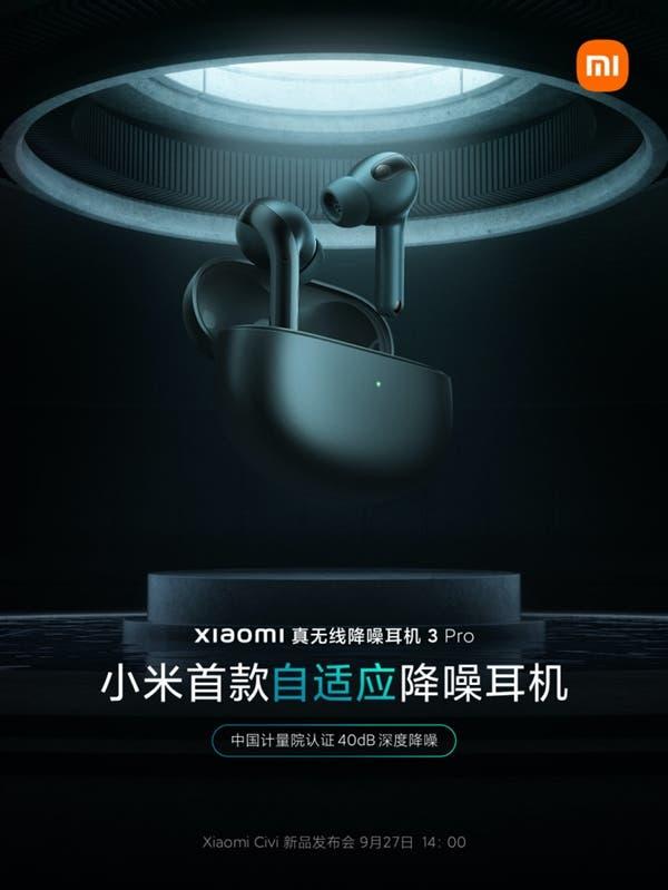 Xiaomi True Wireless Noise-Cancelling Headset 3 Pro