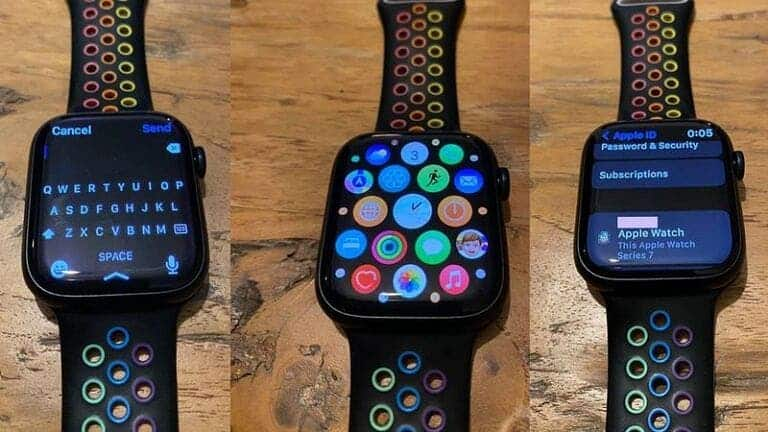 Apple Watch Series 7 real-world images