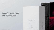 Sony XPeria zero plastic packaging