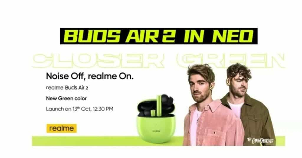 Realme Buds Air 2 launch green color