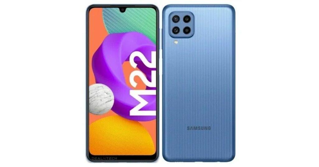 Samsung Galaxy M22 front back design