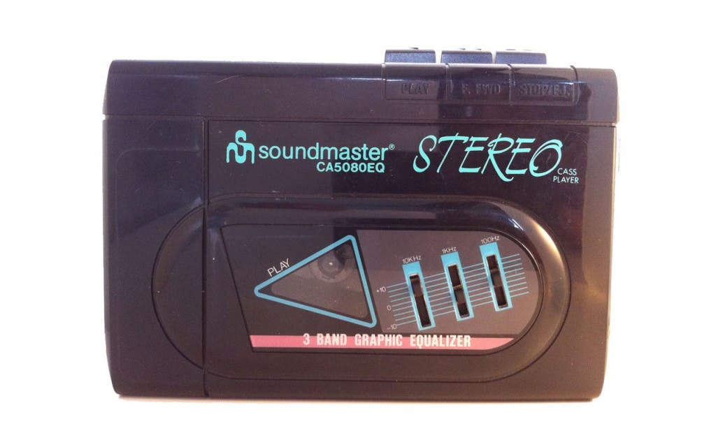 80's walkman with graphic equalizer