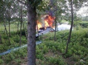 Tianchi drone crash China
