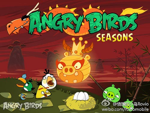 Angry birds seasons year of the dragon,angry birds update,angry birds seasons update,chinese new year angry birds