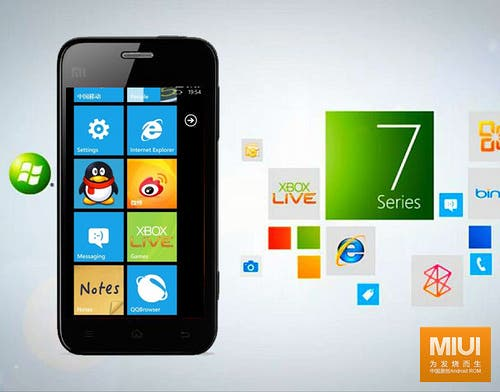 Chinese startup Xiaomi are planning a low cost Windows 7 phone with custom UI