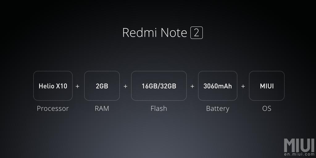 xiaomi redmi note 2 specifications