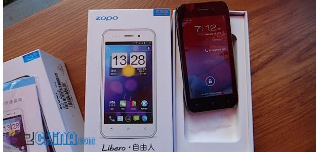 zopo zp500+ libero hand on video
