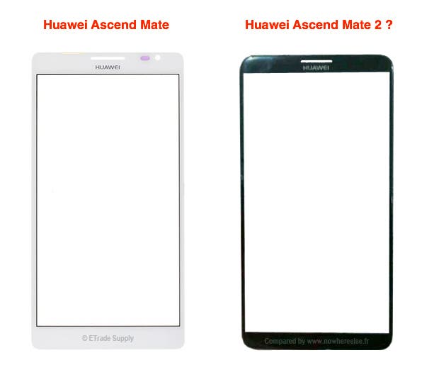 Huawei Ascend Mate 2 VS Huawei Ascend Mate 2 screen unveiled with thin bezel design