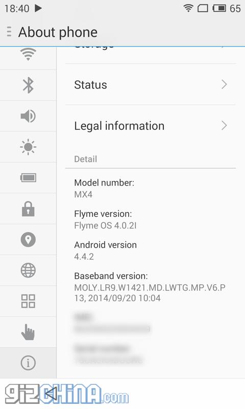 meizu mx4 flyme 4.0.2I