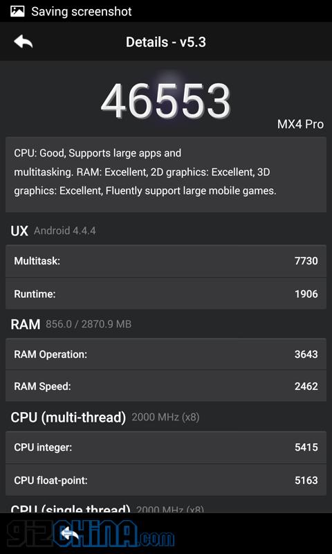 meizu mx4 pro benchmarks
