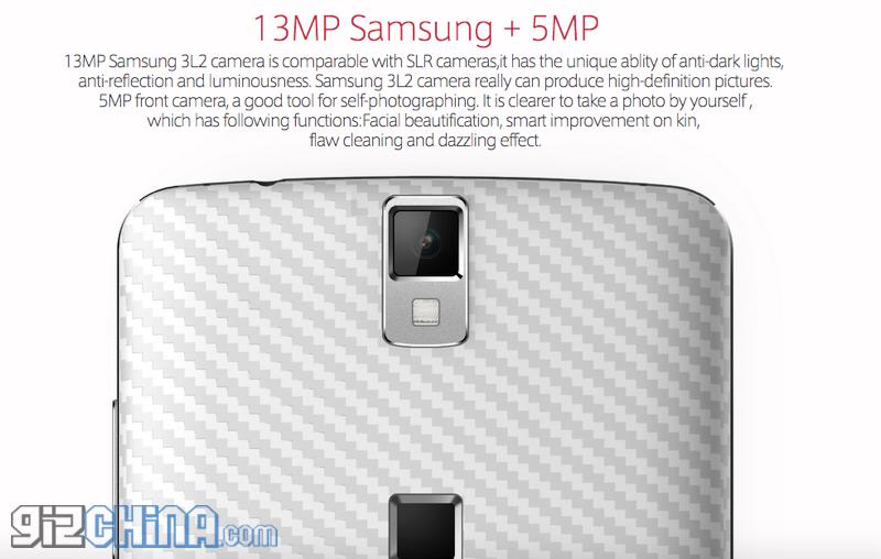 elephone P8000 samsung camera