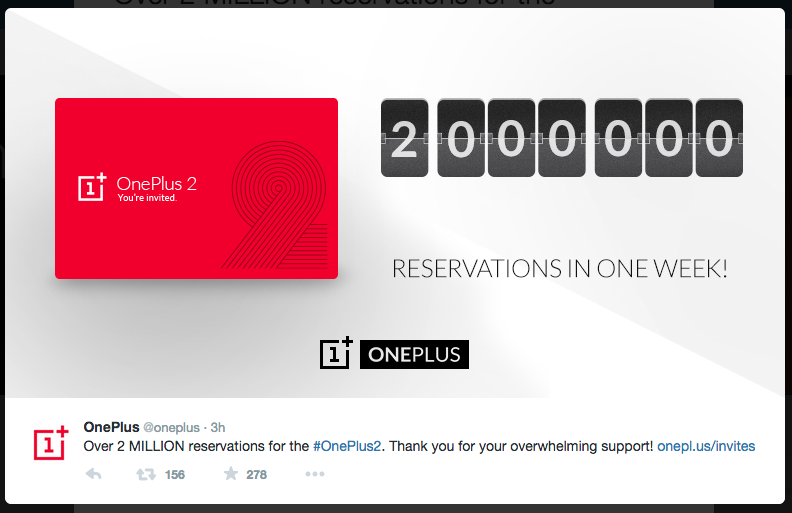 oneplus 2 reservations