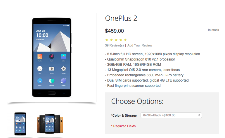 5 stores you can buy the oneplus 2 without invite