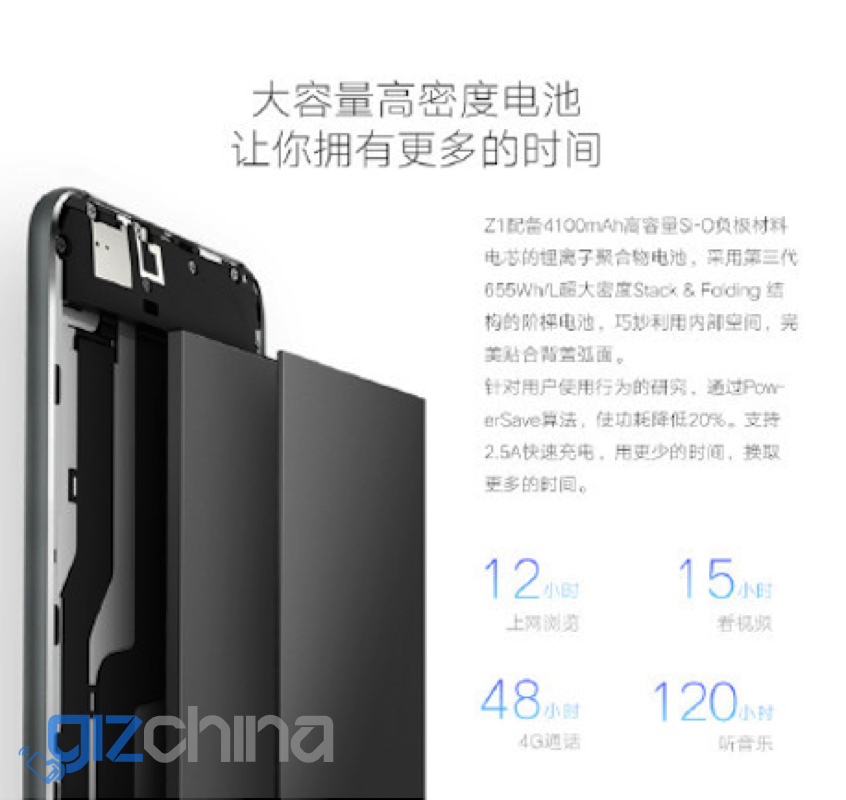 zuk z1 specifications