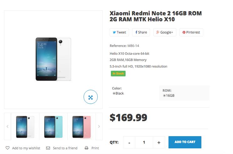 xiaomi redmi note 2 buy now