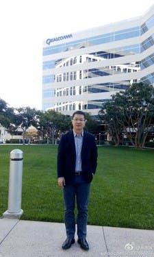 William Lu at the Qualcomm headquarters