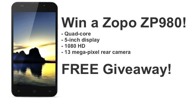 Win a Zopo ZP980 in the Android-Sale Giveaway!