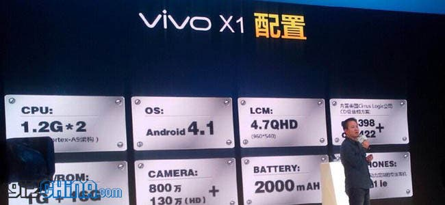 bbk vivo x1 price