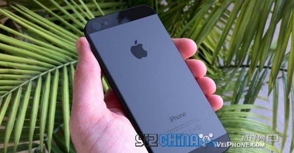 black goophone i5 apple logo