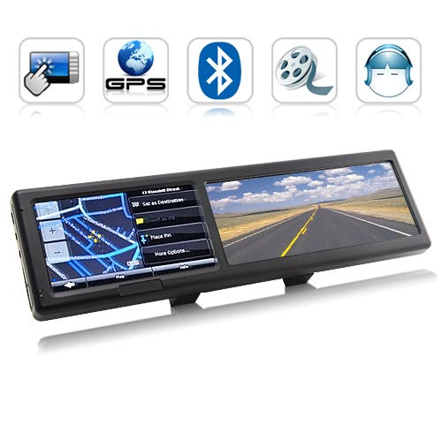 Bluetooth Enabled Gps Rear View Mirror Gizchina Com