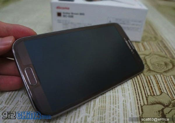 brown samsung galaxy note 2 sc 02e photos1 Real photos and unboxing of Amber Brown Samsung Galaxy Note 2