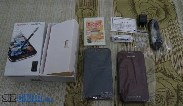 amber brown samsung galaxy note 2 unboxing photos 2