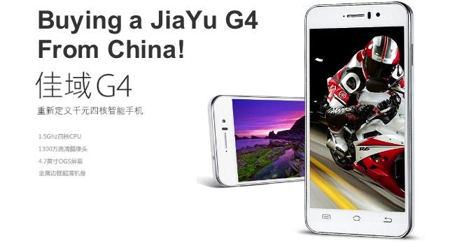 buying a jiayu g4 from china