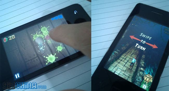 temple run and fruit ninja on callbar world's cheapest android phone china