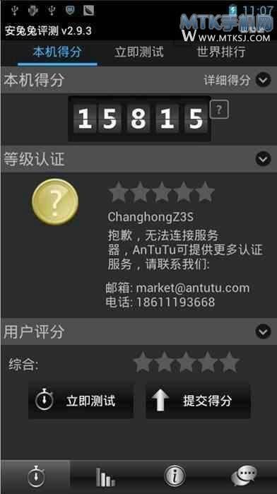 changhong zs3 antutu